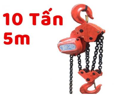 Pa lăng xích kéo tay Nitto 10 tấn 5 mét
