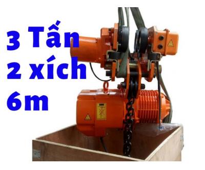 Pa lăng xích điện KENBO cao cấp di chuyển KKBB03-02 3 tấn 2 đường xích
