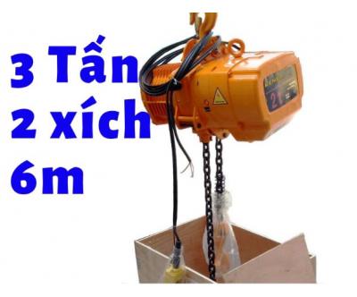 Pa lăng xích điện KENBO cao cấp cố định KKBB03-02 3 tấn 2 đường xích