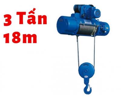 Pa lăng cáp điện 3 tấn 18 mét KENBO CD1