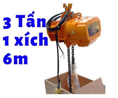 Pa lăng xích điện KENBO cao cấp cố định KKBB03-01 3 tấn 1 đường xích